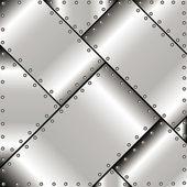 Achtergrond van metalen platen — Stockvector