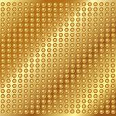Gold metall hintergrund mit nieten — Stockvektor