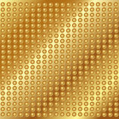 Gouden metalen achtergrond met klinknagels — Stockvector