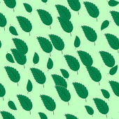 Sömlös bakgrund med blad — Stockvektor