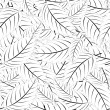 Seamless monochrome pattern — Vettoriali Stock