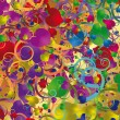 Abstract background with colorful hearts — Grafika wektorowa