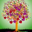 Magic Tree of Love — Wektor stockowy #19724097