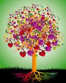 Sevgi sihirli ağaç — Stok Vektör
