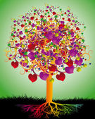 árbol mágico de amor — Vector de stock