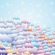 Winter fairy-tale forest — Vector de stock #19786683