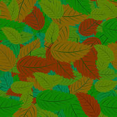 Seamless pattern with leaves — Stock Vector