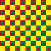 Seamless pattern with apples — Stockvektor