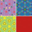 Set of seamless patterns 2 — Stock Vector