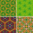 Set of seamless patterns 3 — Stock Vector