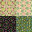 Set of seamless patterns — Vector de stock #20106941
