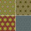 Set of seamless patterns 4 — Vektorgrafik