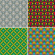 Stock Vector: Set of seamless patterns 5