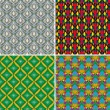 Set of seamless patterns 5 — Stock Vector