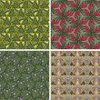 Set of seamless patterns 6 — Vettoriali Stock