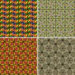 Set of seamless patterns 7 - Vektorgrafik
