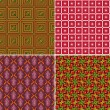 Set of seamless patterns 9 — Stok Vektör
