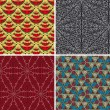 Set of seamless patterns 8 — Stock Vector