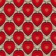 Abstract seamless pattern with hearts — Stok Vektör