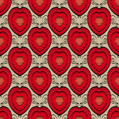 Abstract seamless pattern with hearts — Stock Vector