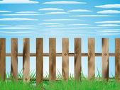 Provinzielle landschaft — Stockvektor