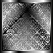 Metallic background with a pattern 3 - Stockvektor