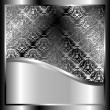 Metallic background with a pattern - Image vectorielle