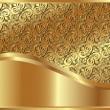 Metallic gold background — Stock Vector