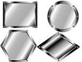 A set of metal plates 2 — Stockvektor