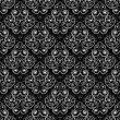 Seamless monochrome pattern - Stockvektor