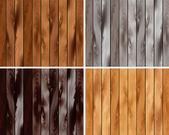A set of wooden texture — Stock Vector