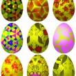 Set of Easter eggs 3 - 图库矢量图片