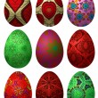 Set of Easter eggs 2 - 图库矢量图片