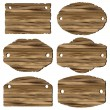 A set of wooden planks - Vettoriali Stock
