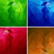 A set of polygonal backgrounds 2 — Stock Vector #22254195