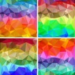A set of polygonal backgrounds - Vettoriali Stock