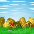 Easter colorful illustration - Imagen vectorial