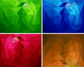 A set of polygonal backgrounds 2 — Stock vektor