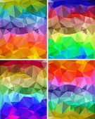 A set of polygonal backgrounds — Stock Vector