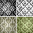 Set of seamless backgrounds with floral pattern 2 - Imagens vectoriais em stock