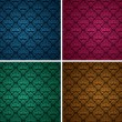 Set of seamless patterns 10 - Stock vektor