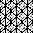 Seamless monochrome pattern 6 — Stockvektor
