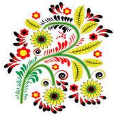 Elemento estampado floral — Vetor de Stock