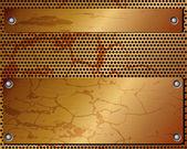 Metallic dark background 2 — Stock Vector