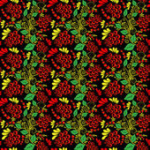 Seamless colorful floral pattern 2 — ストックベクタ