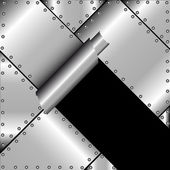 Gescheurde metal — Stockvector