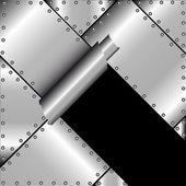 Zerrissene metall — Stockvektor
