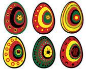 Set of Easter eggs 4 — Stock Vector