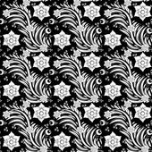 Seamless monochrome floral pattern 7 — Stock Vector