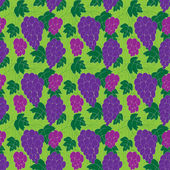 Seamless grape pattern — Stock Vector